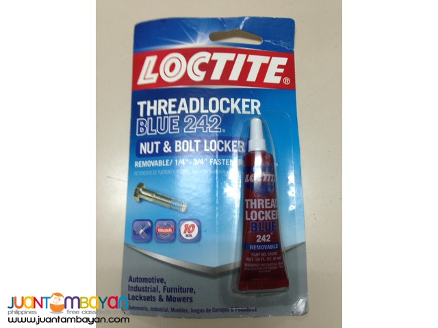 Loctite Threadlocker Blue 242 Nut and Bolt Locker