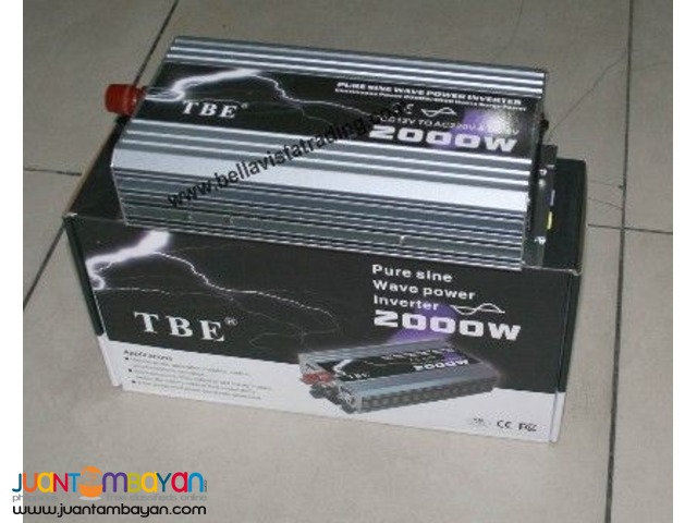 TBE Pure Sine Wave Inverter 2000W 12V to 220V(EDSA,Cubao)