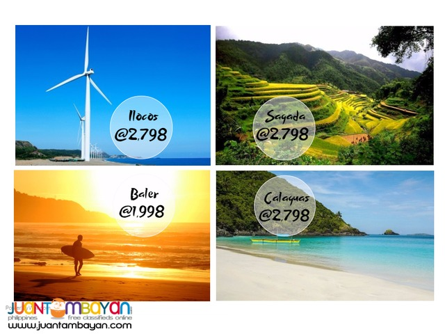 2016 Ilocos, Sagada, Calaguas or Baler Tours! for as low as php 1,998
