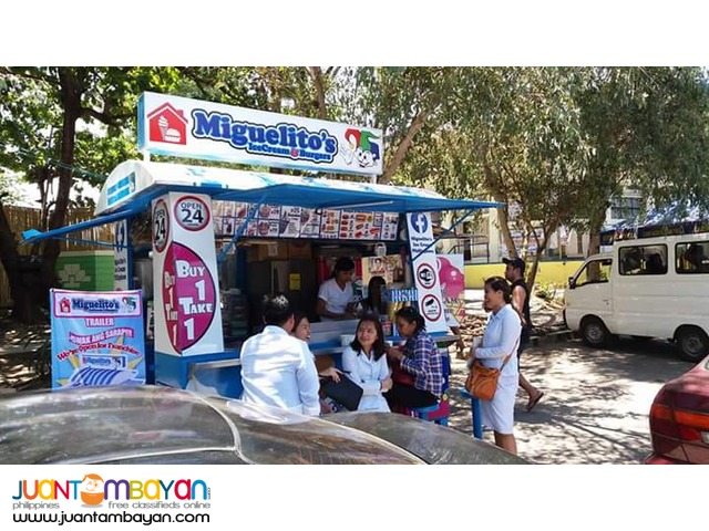 Miguelitos ice cream and Burger trailer