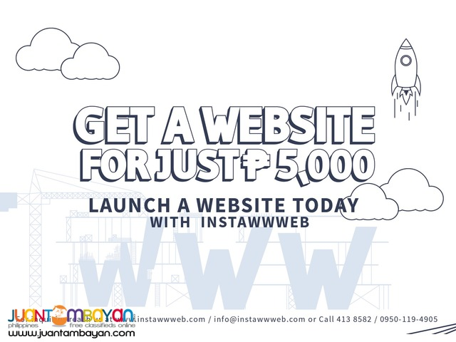 Affordable Basic and Instant Website. Responsive and User-friendly.