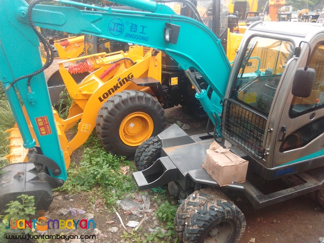 Wheel Type BACKHOE .25 to .30m³ Jinggong Brand New !