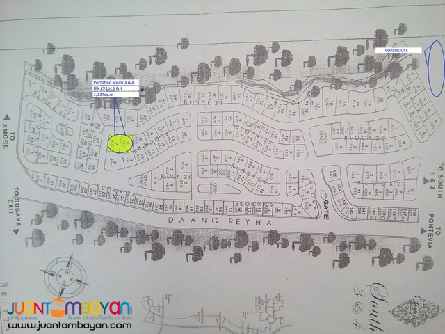 CORNER LOT FOR SALE IN PORTOFINO DAANG-HARI ALABANG (1,237sq.m)
