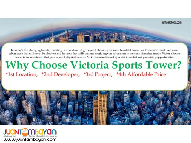Sports Tower Victoria Condo Unit Station 2 in Q.C
