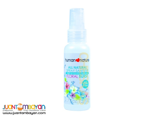 Human Heart Nature Spray Sanitizer Floral Burst