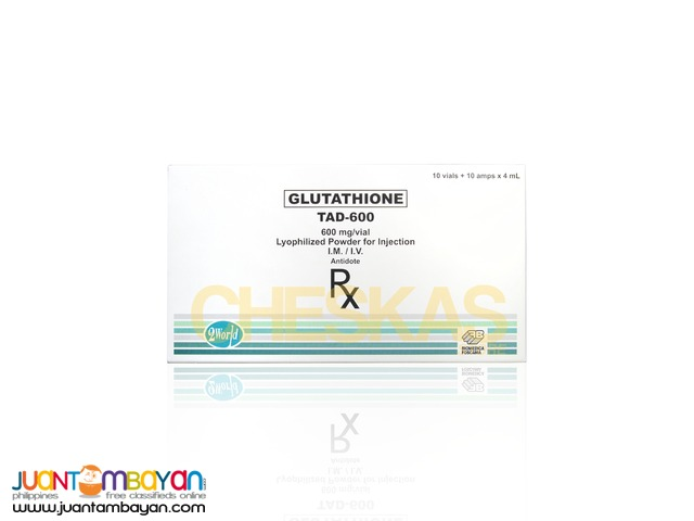Tad Glutathione Injectable 600mg by Biomedica Foscama Italy