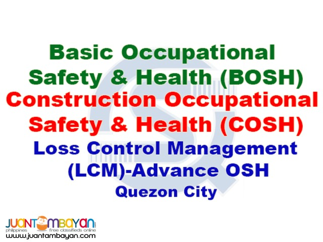 BOSH, COSH, LCM, SPIES DOLE Accredited Safety Training Course