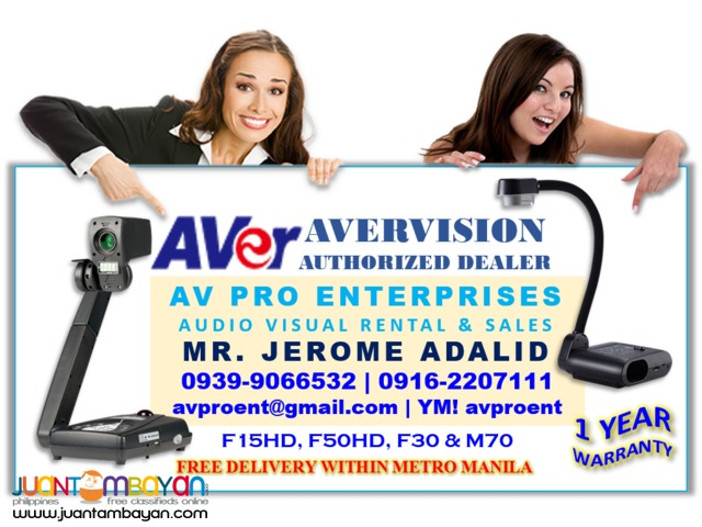 Avervision F17HD Portable Document Camera and Visualizer