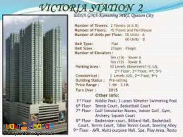 Victoria Sports Tower Station 2    7k/monthly