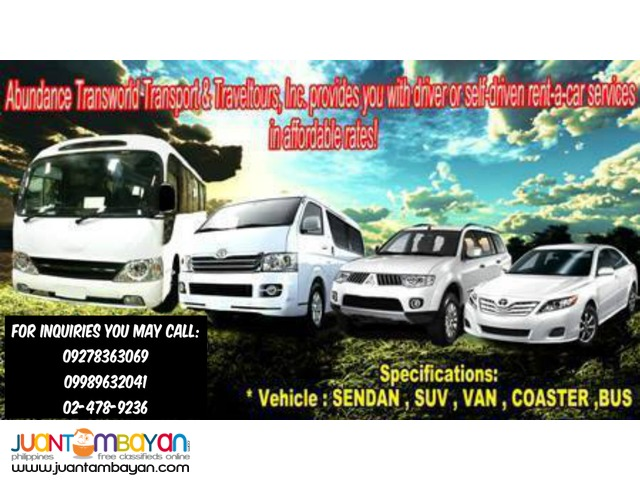 rent a car in abundance