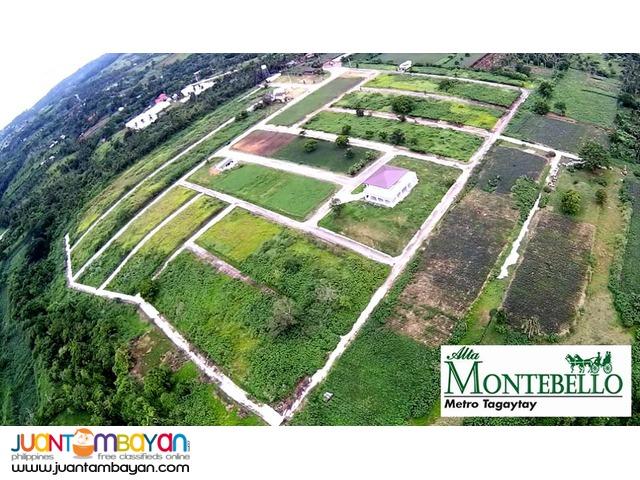 MONTEBELLO Metro Tagaytay Lots = 7,300/sqm