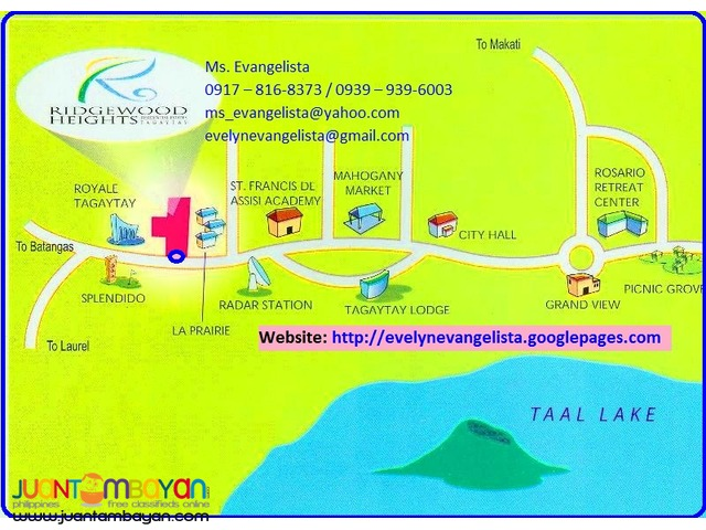 Ridgewood Heights Res. Estates @P 8,000/sqm.