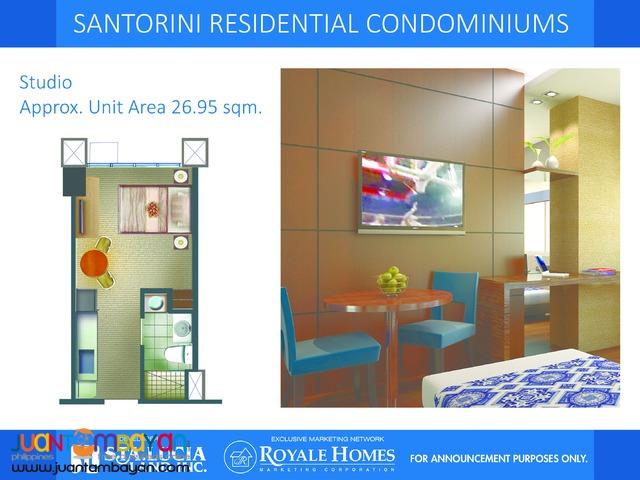Condotel Studio Type Santorini 26.95 sqm.