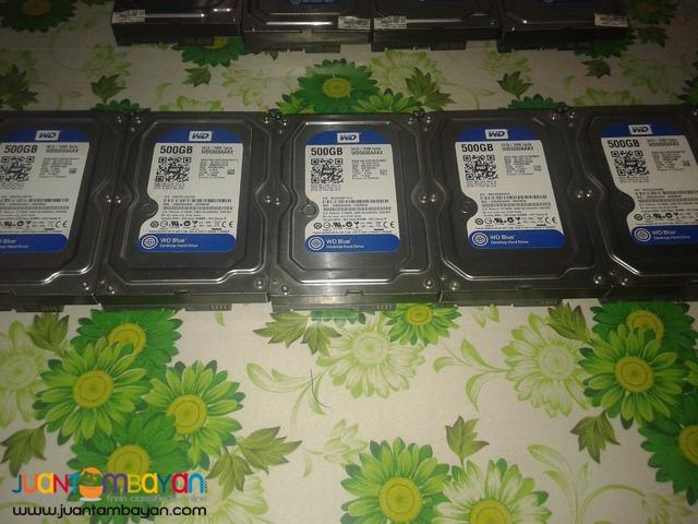 WD 500gb SATA Hard Disks