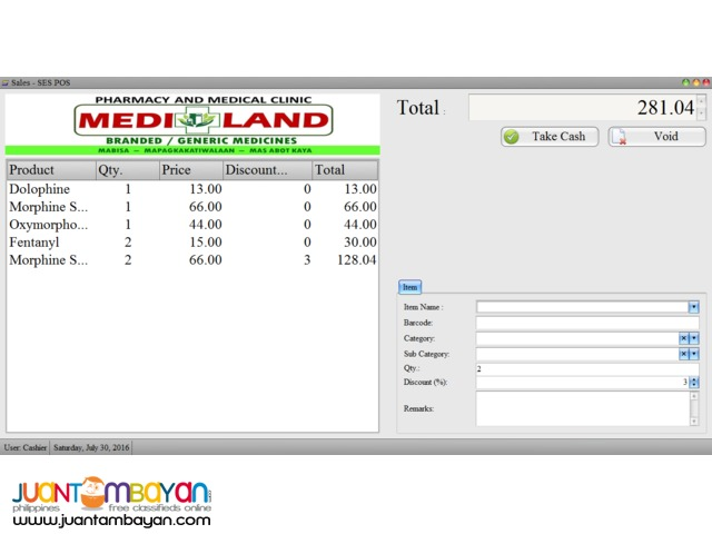 POS with Inventory for Pharmacy