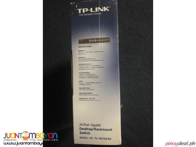 TP-LINK 1000 mbps 24-port Gigabit Desktop/Rackmount Switch