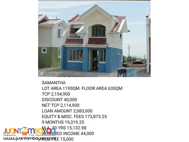 Affordable House and Lot For Sale single Detached located in Carmona