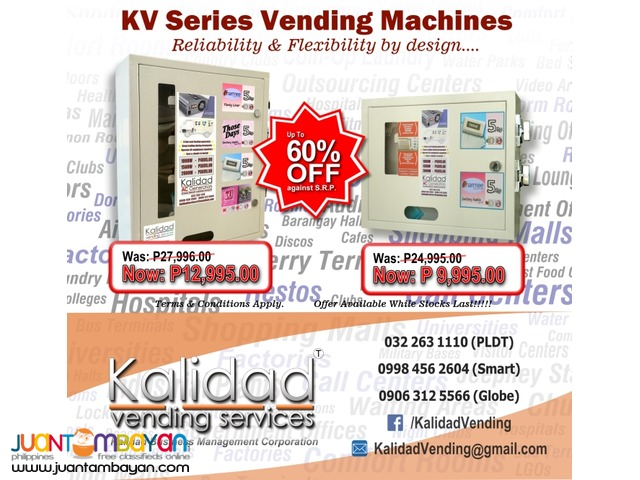 SPECIAL OFFER!! -SMALL ITEM VENDING MACHINES- SAVE upto 60%