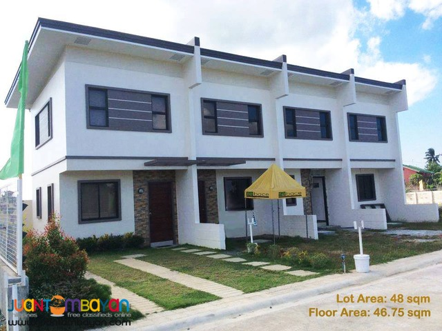 Townhouse Garnet Model For Sale Thru Pagibig Housing