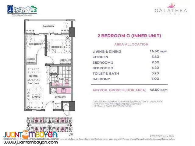 Calathea Place Condo near NAIA Paranaque City by DMCI Homes