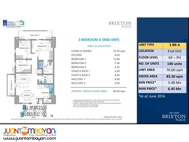 Condo in Pasig Brixton Place near Ortigas, Mandaluyong DMCI Condo