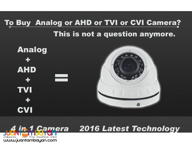 CCTV New series 4 in 1 support Analog/ TVI/ CVI/ AHD- 4A1-VD10MW