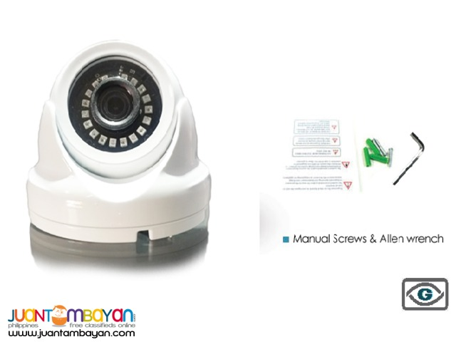 1.0 Mega Pixel CCTV Camera VandalProof Indoor Camera