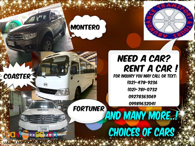 cars for rent in manila