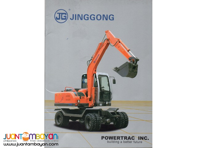 Jinggong JG80 Hydraulic Excavator Wheel Type Brand New Unit