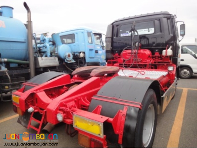 Red&Black ISUZU 6 Wheeler Tractor Head 10PE1 Engine JPN Surplus