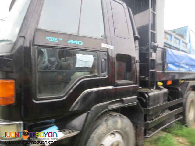 ISUZU Black Colored 10Wheeler 10PD1 Engine Dumptruck JPN Surplus