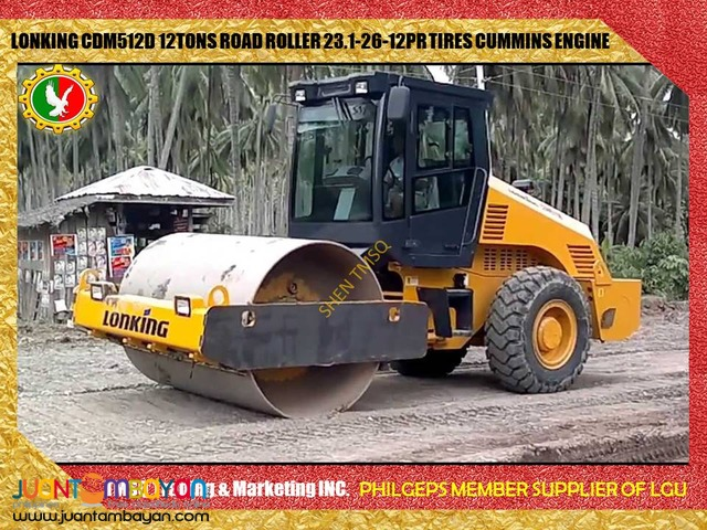 Lonking CDM512D 12Tons Pison/Pizon/Road Roller Cummins Engine New