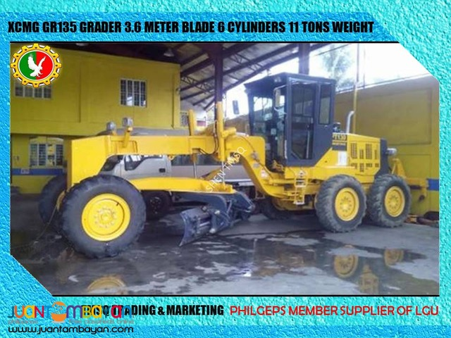 11 Tons Operating Weight GR135 Grader XCMG Brand New Unit