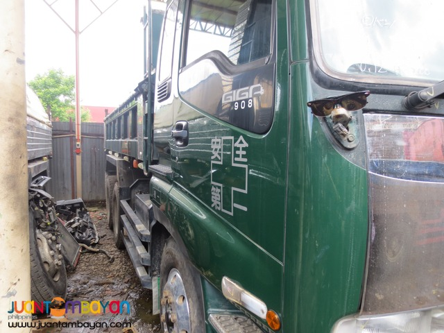Dark Green Isuzu 10PE1 Engine 10W Dump Truck JPN Surplus