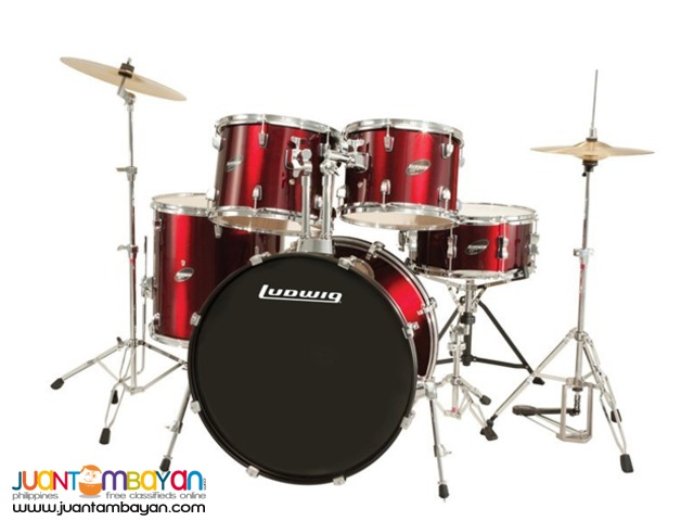 Ludwig Accent Drive Drums+3Cymbals