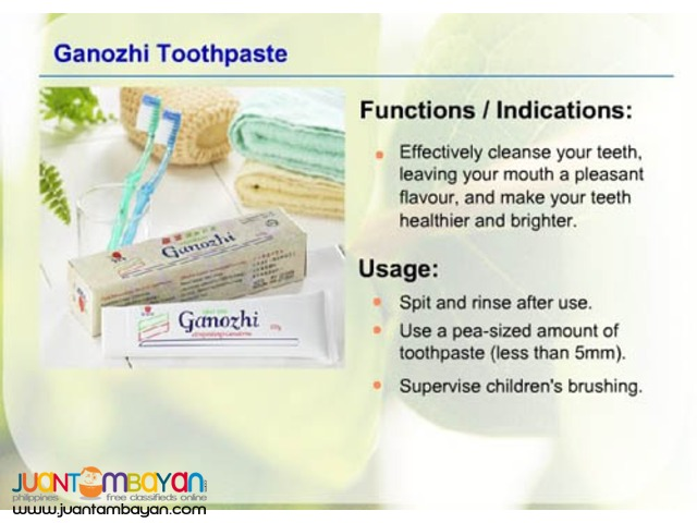dxn ganozhi toothpaste; best toothpaste used for oral problem