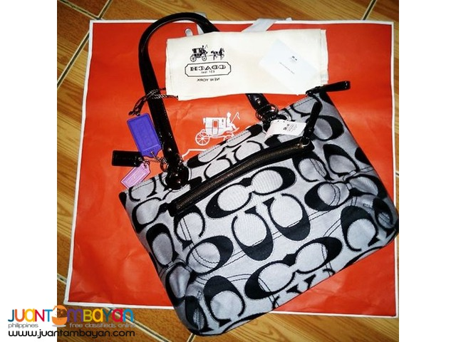 Authentic Coach hand bag SV/Z3 SV/Moonlight Black Retail $278