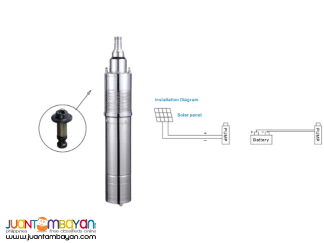 DC Submersible Solar Pump without Controller