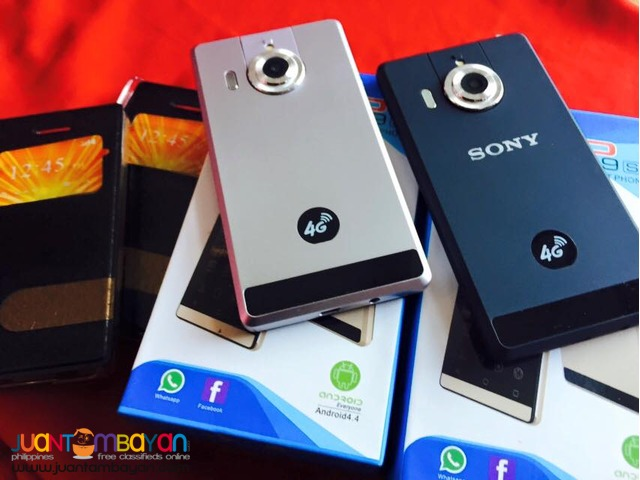 SONY P9S W/ FLIP CAMERA CELLPHONE / MOBILE PHONE - LOT OF FREEBIES
