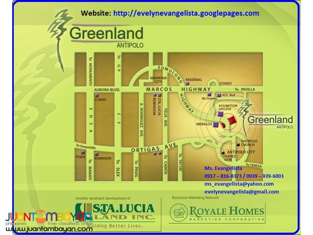 For sale - Greenland Antipolo (Cash Only) @ P15,000/sqm.