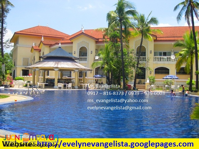 For sale - Club Morocco Beach Resort & Res. estates @ P 4,800/sqm.