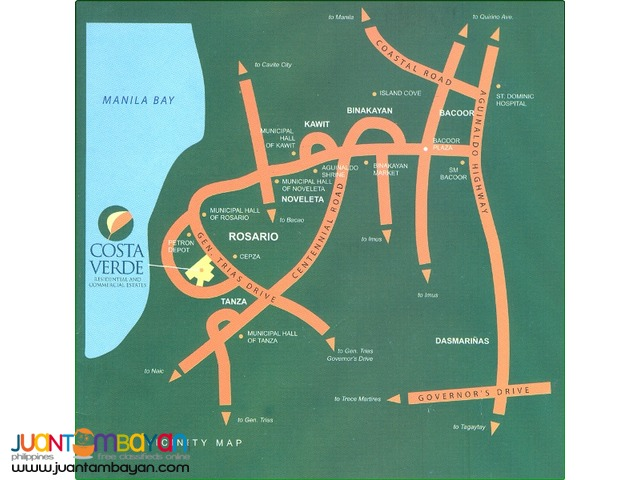For sale - Costa Verde @ P 9,000/sqm. Bolbok & Alangilan Batangas