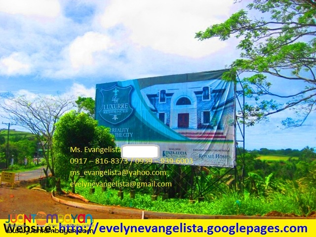 For sale - Luxurre Residences Tagaytay- Nasugbu Road @ P 7,500/sqm.