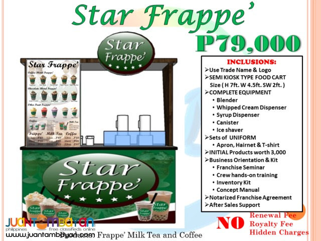 Foss Coffee Star Frappe Franchise P99,000