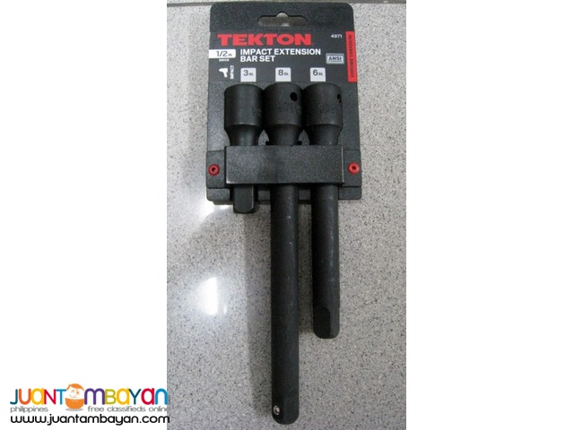 Tekton 4971 3-piece 12-inch Drive Impact Extension Bar Set