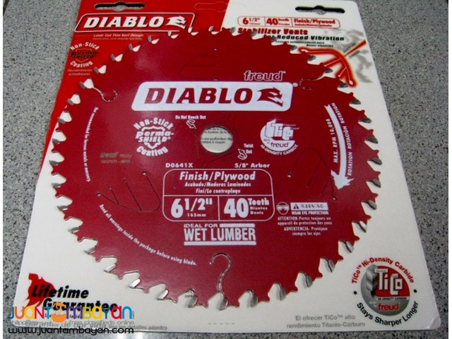 Freud D0641X 6-1/2-inch by 40-tooth Finishing Saw Blade 5/8-inch Arbor