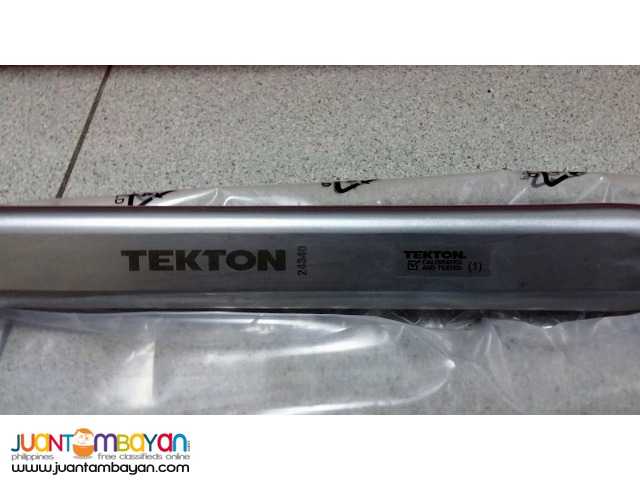 Tekton 24340 1/2-inch Drive Click Torque Wrench, 25-250-foot/pound