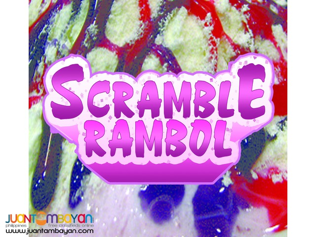 SCRAMBLE RAMBOL FOODCART BUSINESS FRANCHISE