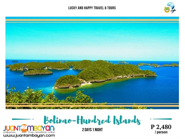 2D1N BOLINAO - HUNDRED ISLANDS (group tour)