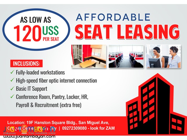 Call Center Seat Space for Lease in Ortigas